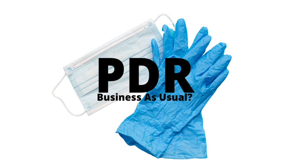 PDR Business as Usual